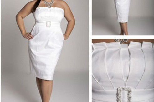 Plus Size White Party Dress Style Jeans