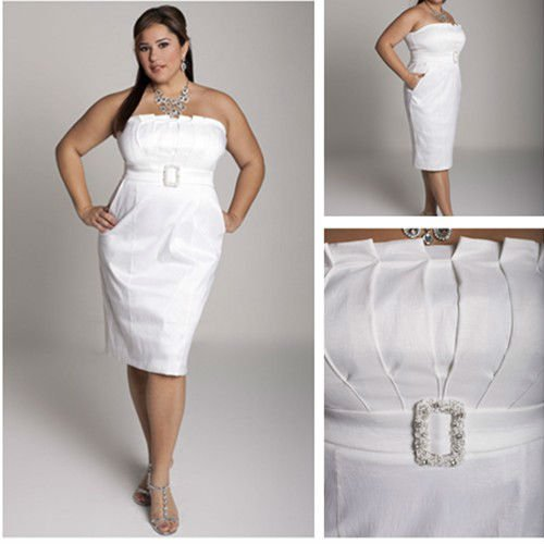 Plus size white party dress - Style Jeans