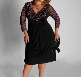 plus sizes dresses with sleeves