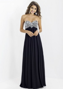 prom dresses black and blue