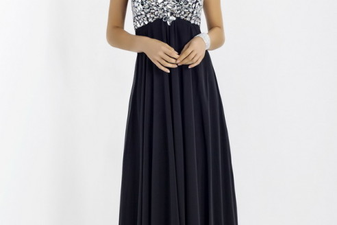 prom dresses black and blue