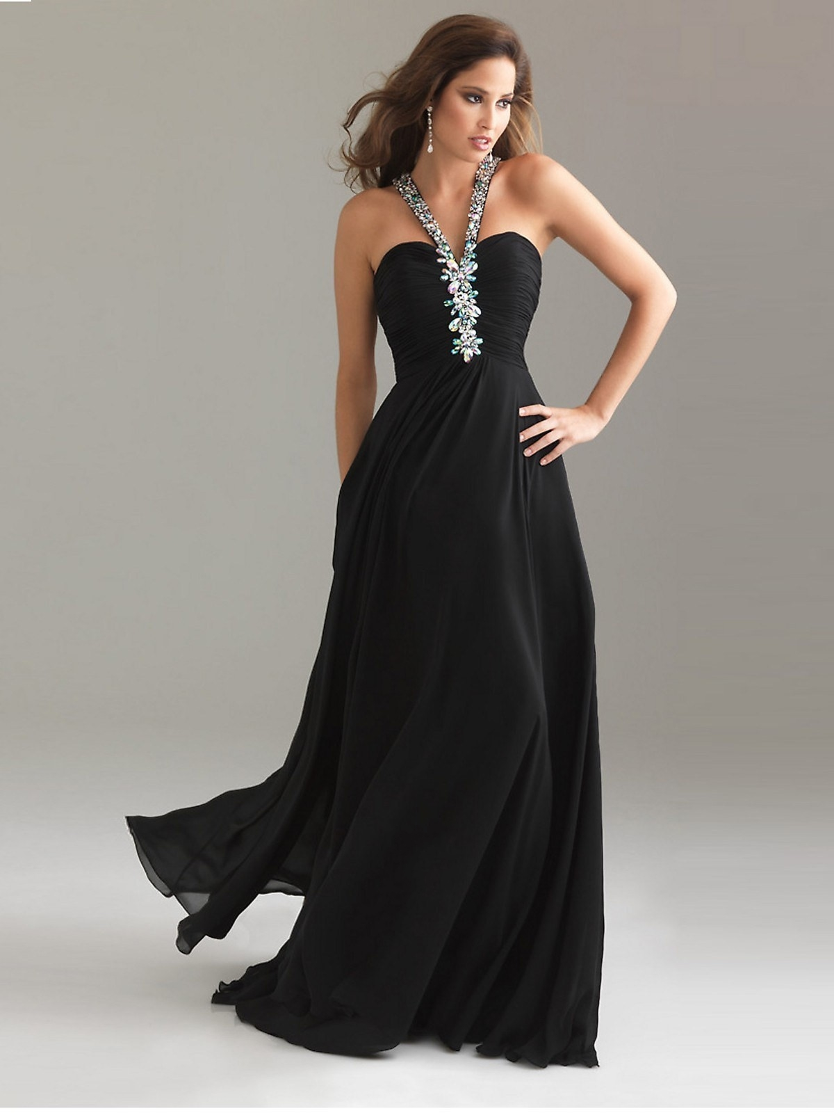Black and silver dresses for women