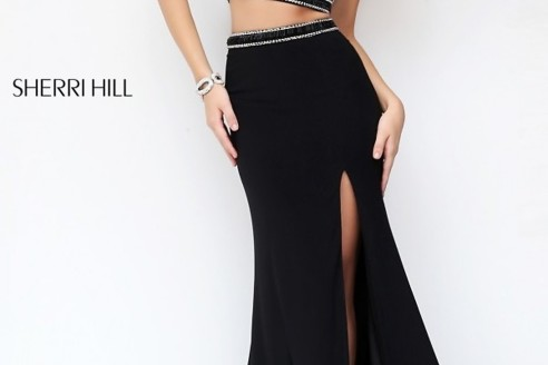 prom dresses black and silver