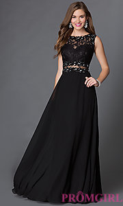 prom dresses black lace