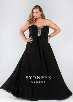 prom dresses plus size black