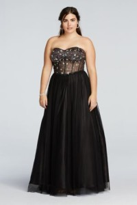 prom dresses plus size sleeves