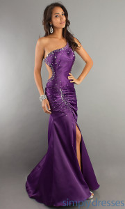 purple formal dresses short