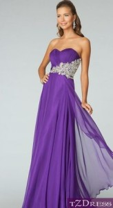 purple formal dresses with sleeves