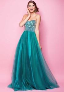 strapless prom dresses