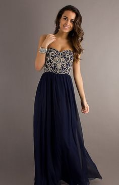 Long Strapless Prom Dress - Ocodea.com
