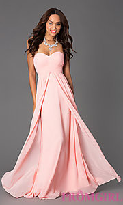 strapless prom dresses long
