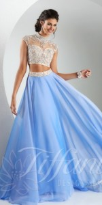 tiffany prom dresses two piece