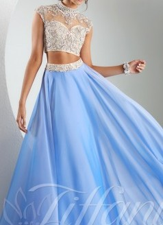 tiffany prom dresses two piece