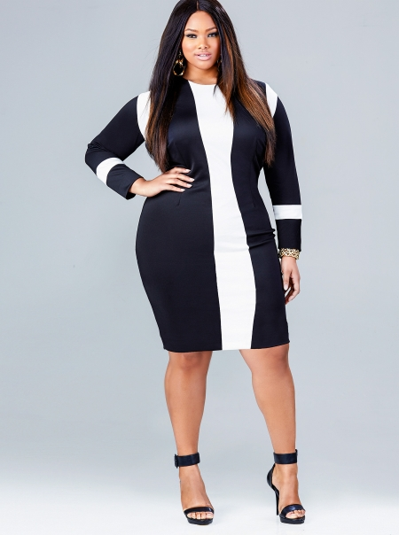 Trendy plus size dresses with sleeves - Style Jeans