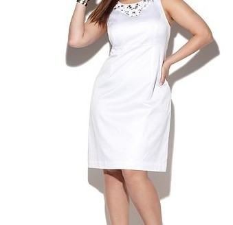 white dresses for plus size women 3