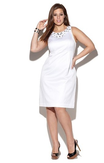 White dresses for plus size women - Style Jeans