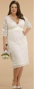 white dresses for plus size women 4