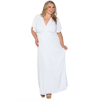 white dresses for plus size women 6