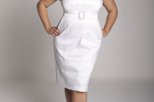 white dresses for plus size women 7