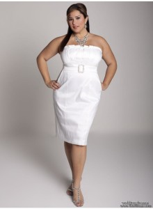 white dresses plus size 2