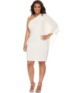 white dresses plus size