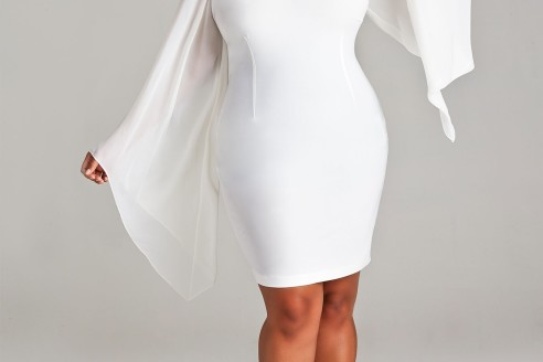 white dresses plus size formal