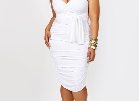 white dresses plus size juniors
