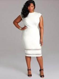 white dresses plus size long