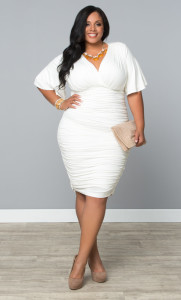 white dresses plus size white party