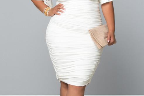 white dresses plus size white party