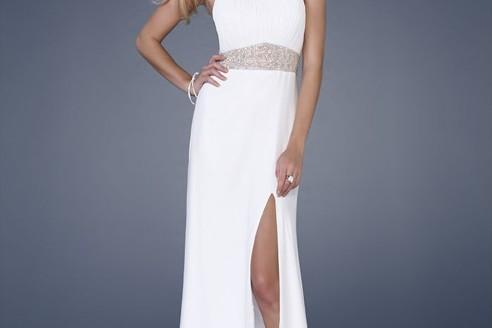 white evening dresses long