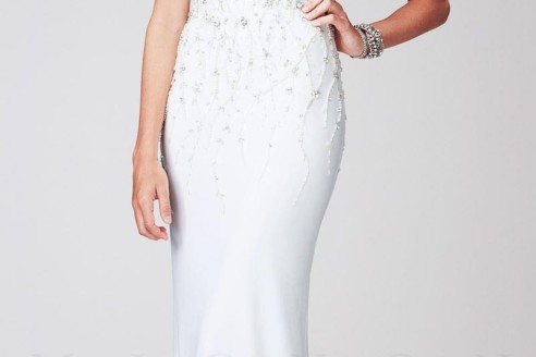 white evening dresses plus size