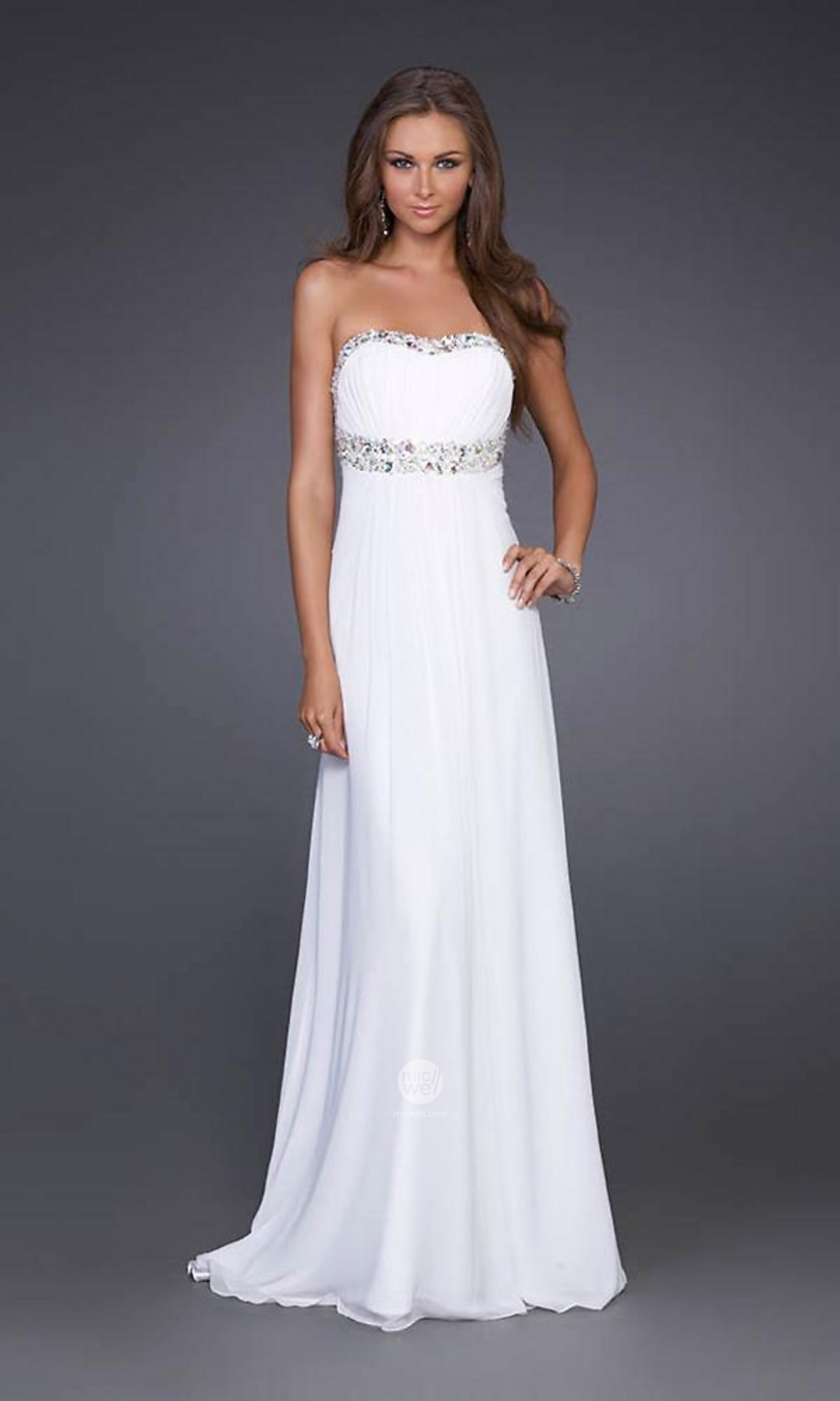 white evening dresses with sleeves_Evening Dresses_dressesss