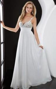 white formal dress plus size