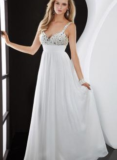 white formal dress plus size