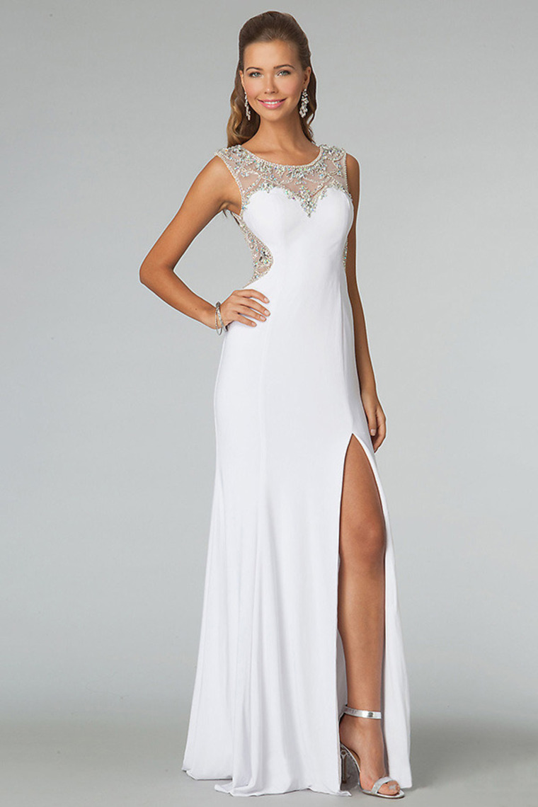 White formal dress plus size - Style Jeans