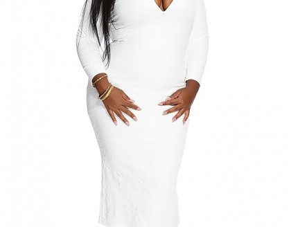 white plus size dress 2