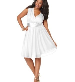 white plus size dress 3