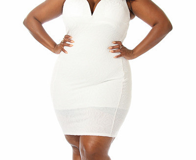 white plus size dress 4