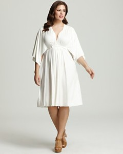 white plus size dress 5