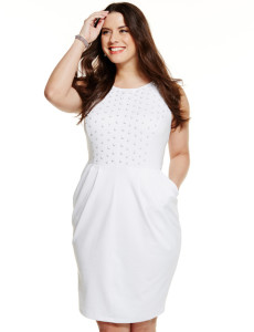 white plus size dress shirt