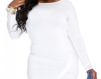 white plus size dress shorts