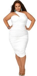 white plus size dress suits
