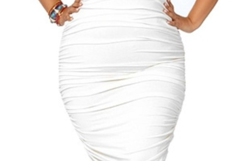 white plus size dress suits
