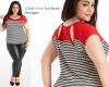 Plus size fashion tops