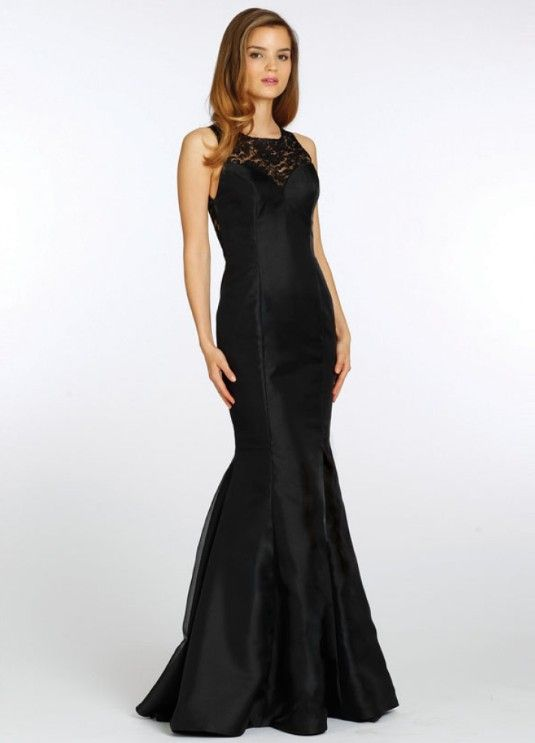 Black mermaid bridesmaid dresses suitable with slim fit for Black mermaid wedding dresses