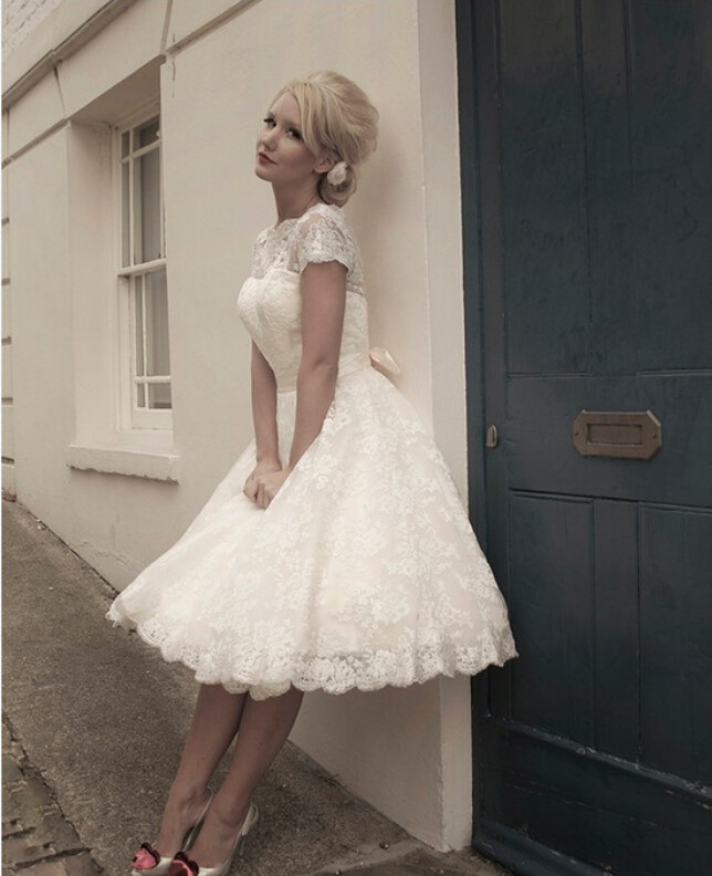 Short Classy Wedding Dress - Style Jeans