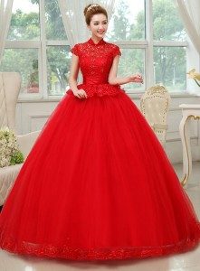 Vintage Red Wedding Dresses Look So Shiny and Elegant