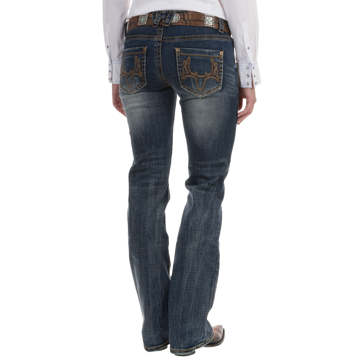 Best Jeans: 7 For All Mankind The Skinny Jeans These body-hugging skinny jeans add femininity and definition to Tracy's narrow hips and calves. The dark wash has an elongating effect on her body, as does the inch inseam that hits just below the ankle.