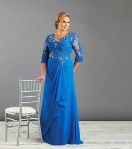 plus-size-dresses-for-a-wedding-reception